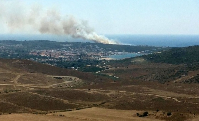İzmir'de korkutan orman yangını