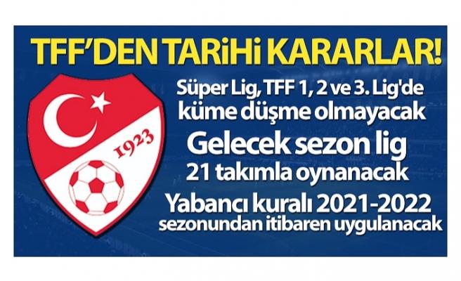 Nihat Özdemir: 'Süper Lig, TFF 1, 2 ve 3. Lig'de düşme olmayacak'