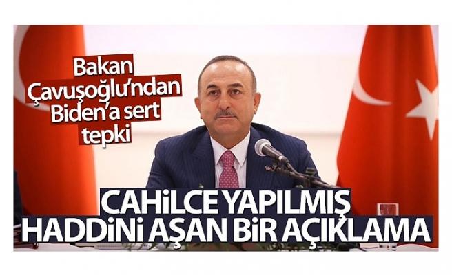 Bakan Çavuşoğlu: 'Türk milleti olarak böyle dayatmaları kökten reddediyoruz'