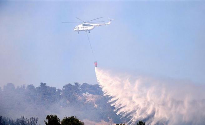 Çanakkale'deki orman yangını kontrol altına alındı