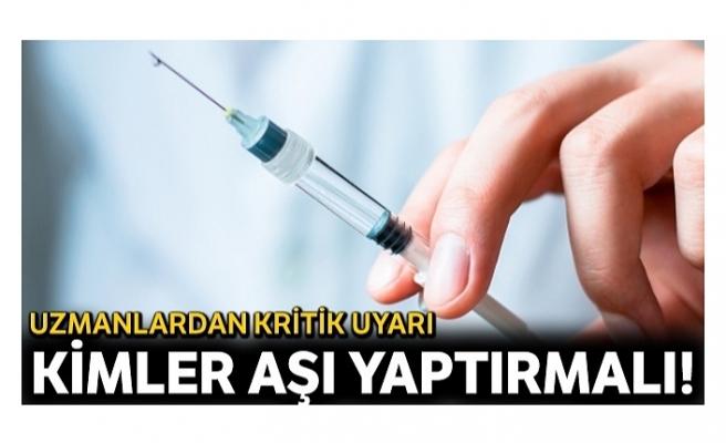 Sağlıklıya grip, risk grubuna hem grip hem zatürre aşısı