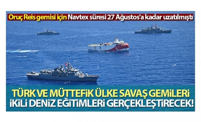 Türk ve müttefik ülke savaş gemileri ikili deniz eğitimleri gerçekleştirecek