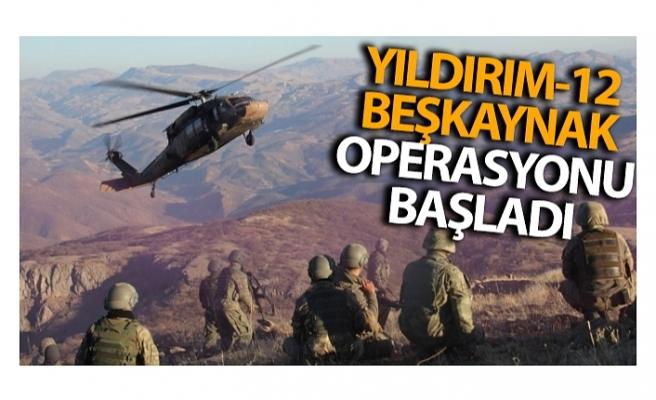 Bitlis'te Yıldırım-12 Beşkaynak Operasyonu başlatıldı