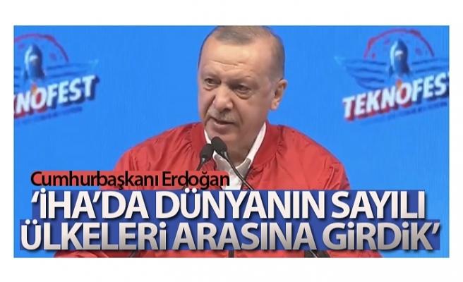 Cumhurbaşkanı Erdoğan Teknofest ödül töreninde konuştu