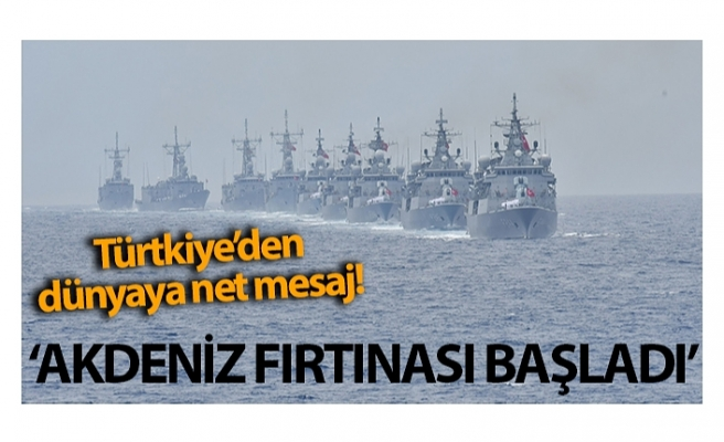 Cumhurbaşkanı Yardımcısı Fuat Oktay duyurdu: 'Akdeniz Fırtınası' tatbikatı bugün itibariyle KKTC'de başladı