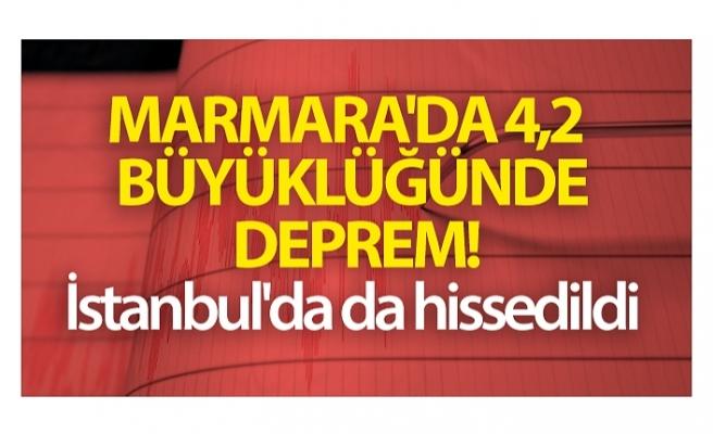 Marmara'da 4,2 büyüklüğünde deprem oldu! İstanbul'da da hissedildi