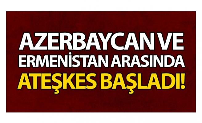 Azerbaycan ile Ermenistan arasında Dağlık Karabağ konusunda varılan ateşkes başladı
