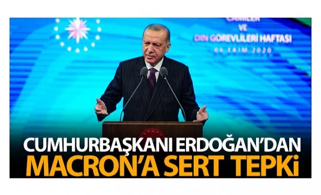 Cumhurbaşkanı Erdoğan'dan Macron'a tepki: 'İslam krizde' açıklaması saygısızlıktan öte açık bir provokasyondur'