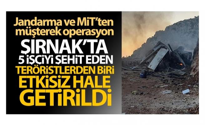 PKK'lı terörist, Jandarma ve MİT'in müşterek operasyonuyla etkisiz hale getirildi