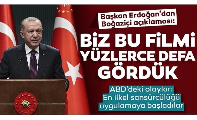 Başkan Erdoğan'dan Boğaziçi provokasyonuna sert sözler