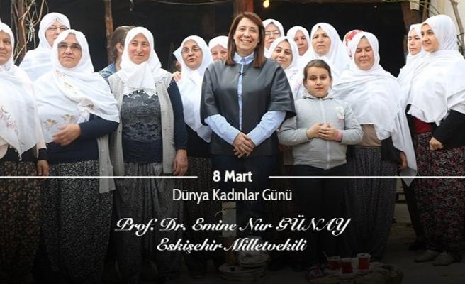 Günay'dan 8 Mart Dünya Kadınlar Günü mesajı