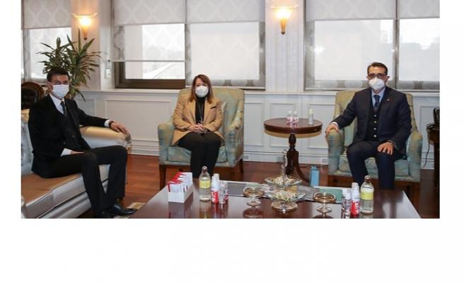 Günay Enerji Bakanı Dönmez ile ilçelerin projelerini konuştu