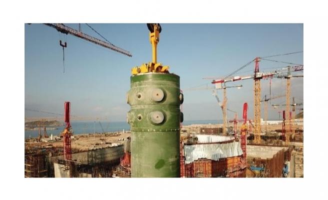 Akkuyu Nükleer Güç Santrali'nde birinci ünitenin montajın tamamlandı