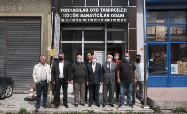 GÜLER'DEN TORNACILAR SİTESİ VE TEKSAN'DAKİ ÜYELER İÇİN İSTİŞARE ZİYARETİ