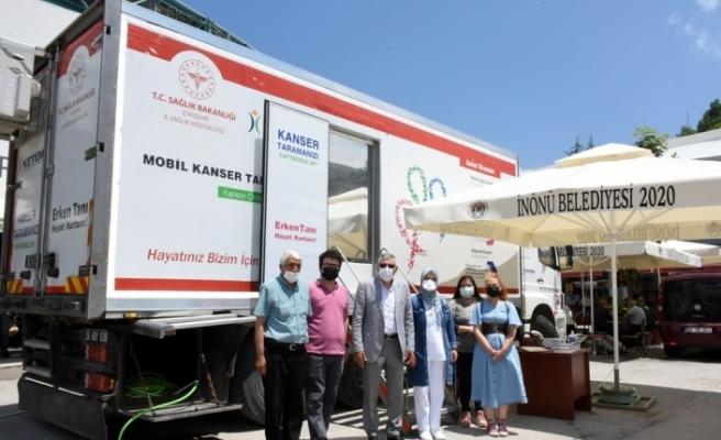 Mobil Kanser Tarama TIR'ı İnönü'de