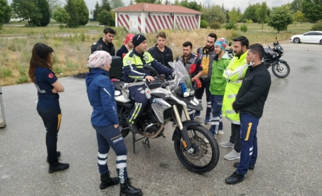 Motosikletli Ambulans Timleri yaz dönemi görevine başladı