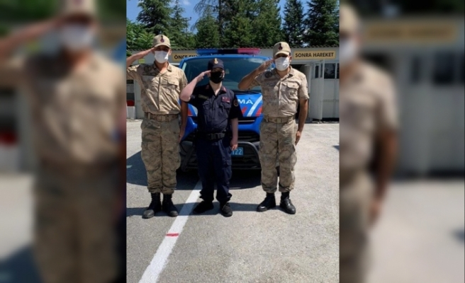 Jandarma ekipleri 'Temsili Askerlik Uygulaması' gerçekleştirdi