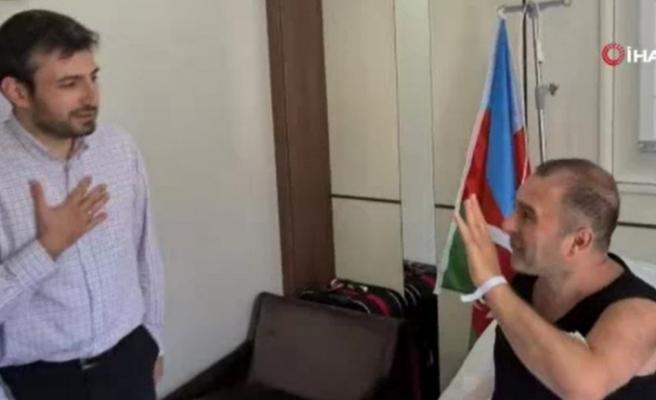 Selçuk Bayraktar, tedavi gören Karabağ gazisini ziyaret etti