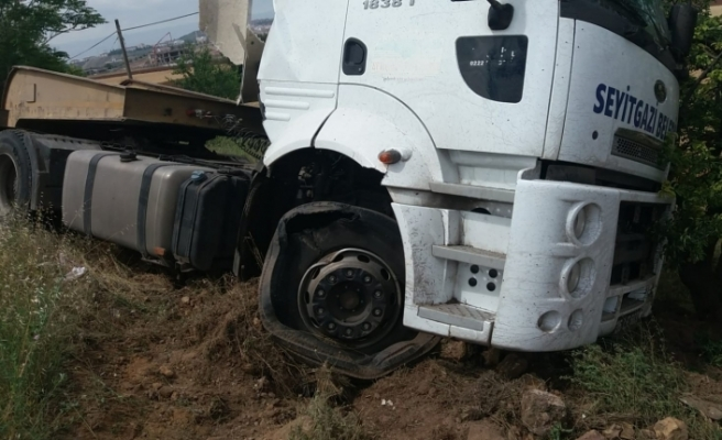 Seyitgazi yolunda trafik kazası, 1 yaralı