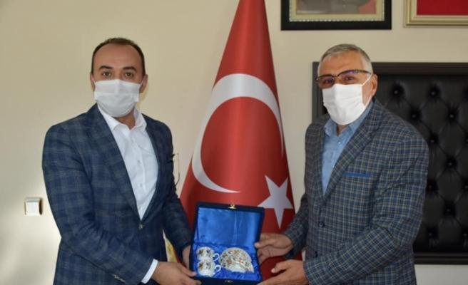 Aslanapa Kaymakamı Pelvan'dan Başkan Bozkurt'a ziyaret