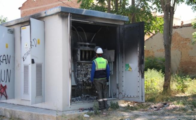 Eskişehir'de trafo yangını paniğe neden oldu