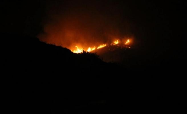 Gece 4 helikopter devreye girdi, Bodrum'da yangın kontrol altına alındı