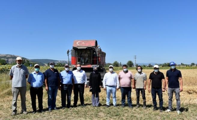 İnönü'de tarımsal faaliyetlerin kazasız geçmesi için kurban kesildi