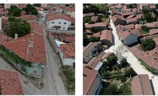 İnönü'nün sokakları yenilenmeye devam ediyor
