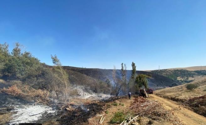 Kaynak makinasından çıkan yangın 300 hektarlık alanı kül etti