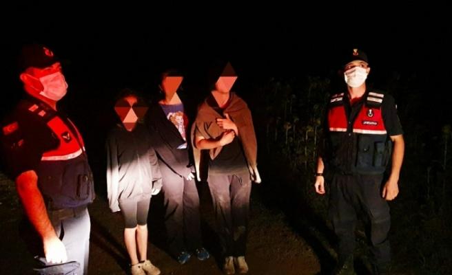 Köpekten korkup mısır tarlasına saklanan 3 çocuğu jandarma buldu