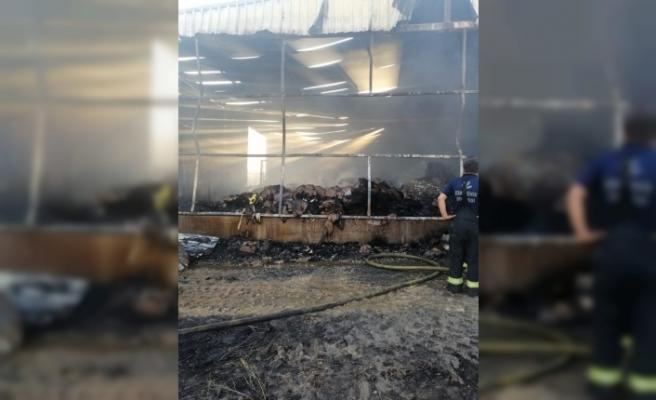 Sirke fabrikasındaki yangının faturası 300 bin lira