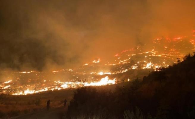 Muğla'da gece başlayan orman yangınını söndürme çalışmaları devam ediyor