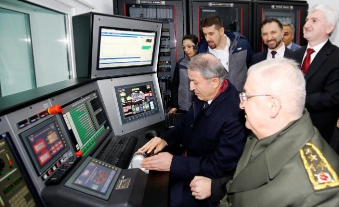 Milli Savunma Bakanı Hulusi Akar TEI'yi ziyaret etti