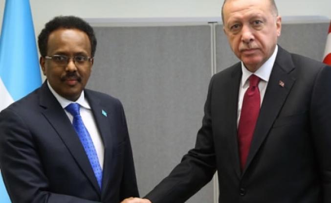 Cumhurbaşkanı Erdoğan, Somali Cumhurbaşkanı Farmajo ile görüştü