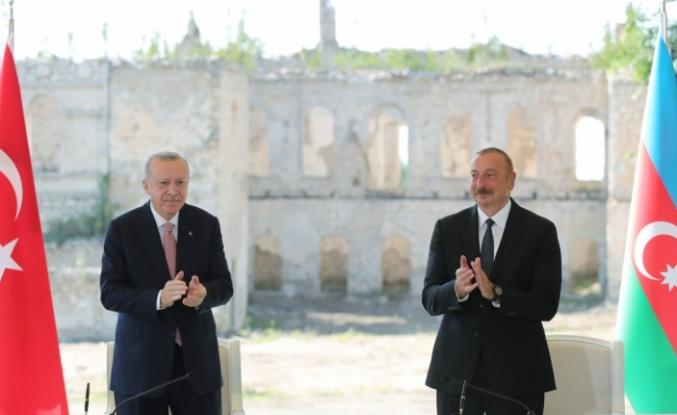 Cumhurbaşkanı Erdoğan ve Aliyev'den ortak açıklama