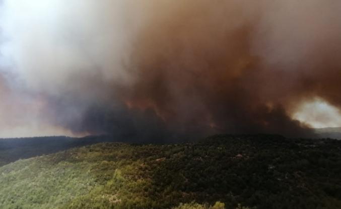 Antalya'daki orman yangını büyüyor!